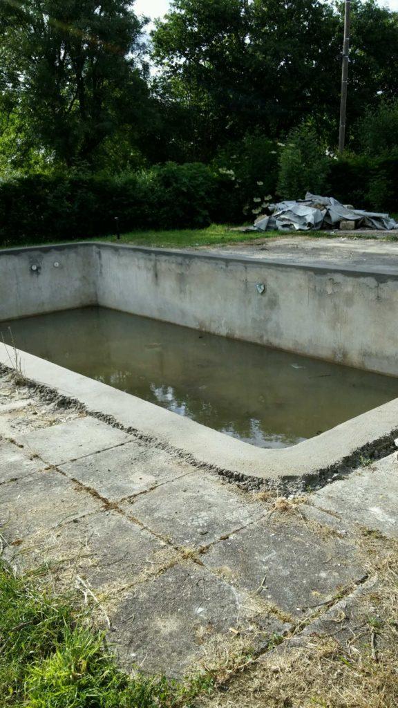 R novations de piscines changement de liner local technique - Renovation piscine coque polyester ...